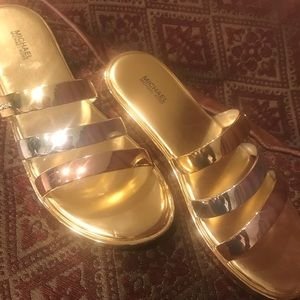 Michael Kors tri color sandals